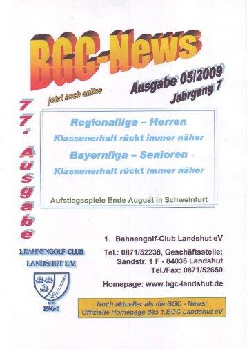 Ausgabe 05 / 2009 - 1. Bahnengolfclub Landshut