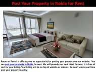 Post Your Property in Noida for Rent