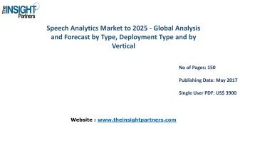 Speech Analytics Market - Global Industry Analysis, Size, Share, Growth, Trends and Forecast 2016 - 2025 |The Insight Partners