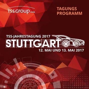 TSS GROUP-JAHRESTAGUNG 2017 | PROGRAMM