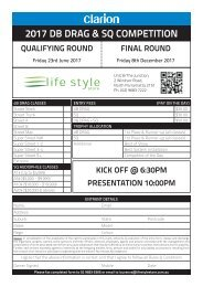 Lifestyle Sound Off Entry Form 2017