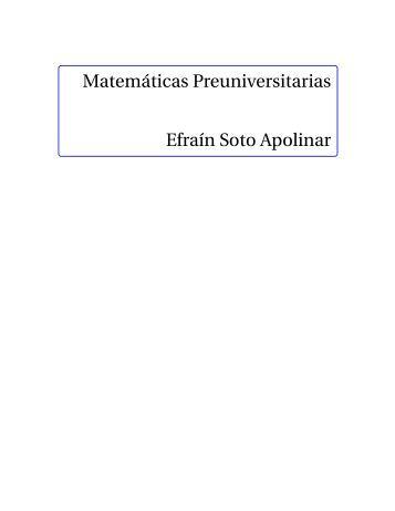 Matemática Preuniversitaria (Libro)