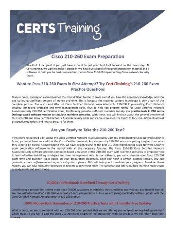 210-260 Cisco Exam Dumps