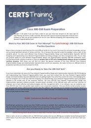 300-550 Cisco Exam Dumps