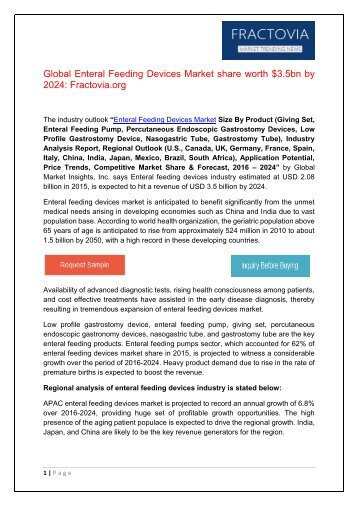 PDF - Enteral Feeding Devices Market Fractovia