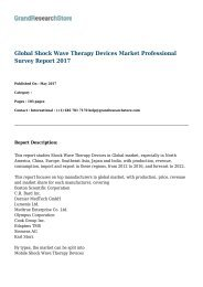 Global Shock Wave Therapy Devices Market Professional Survey Report 2017