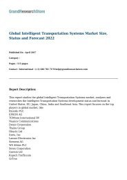 Global Intelligent Transportation Systems Market Size, Status and Forecast 2022
