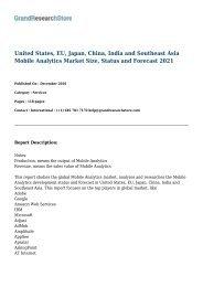 United States, EU, Japan, China, India and Southeast Asia Mobile Analytics Market Size, Status and Forecast 2021