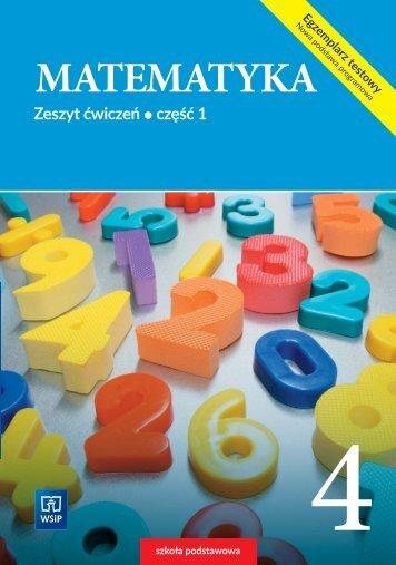 Matematyka 4 - zeszyt ćwiczeń