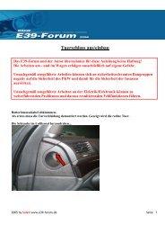 Tuerschloss aus/einbau - BMW E39-Forum