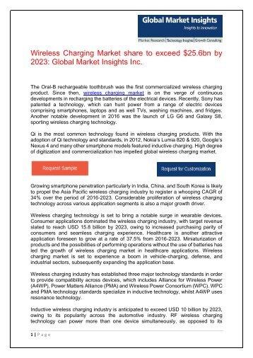 Wireless Charging Market  Wordpress