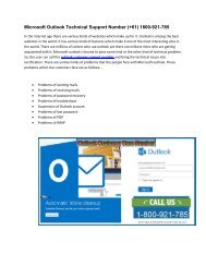 Contact Outlook Technical Support Number 1-800-921-785 Australia