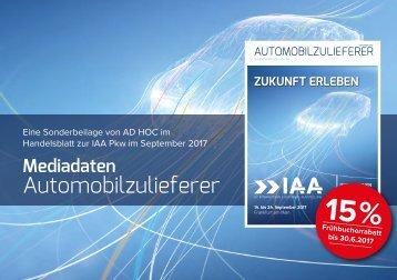 IAA PKW Frankfurt 2017 Mediadaten Sonderbeilage im Handelsblatt