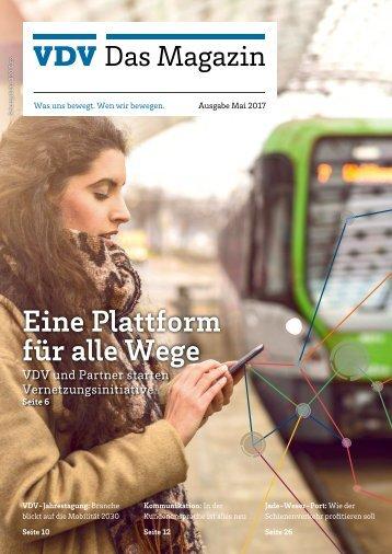 VDV Das Magazin Ausgabe Mai 2017