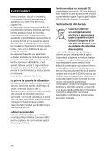 Sony HT-RT3 - HT-RT3 Consignes d'utilisation Roumain - Page 2