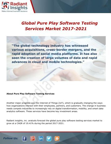 Global Pure Play Software Testing Services Market 2017-2021
