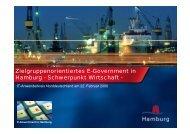 Zielgruppenorientiertes E-Government in Hamburg - Schwerpunkt ...