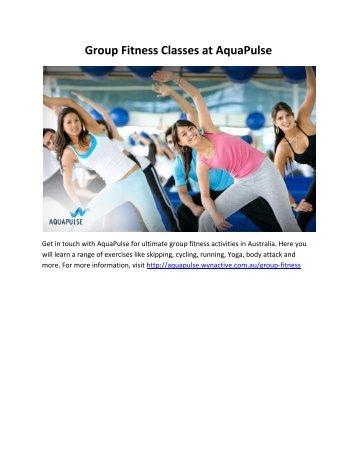 Group Fitness Classes at AquaPulse