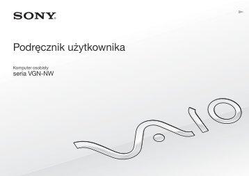 Sony VGN-NW2ZRF - VGN-NW2ZRF Mode d'emploi Polonais