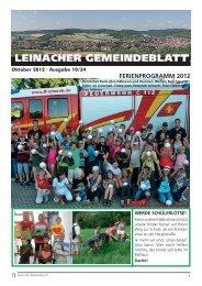 FERIENPROGRAMM 2012 - Leinach