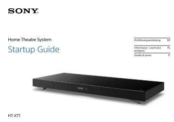 Sony HT-XT1 - HT-XT1 Istruzioni per l'uso Polacco