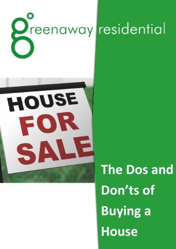 The Do's and Don'ts of Buying a House