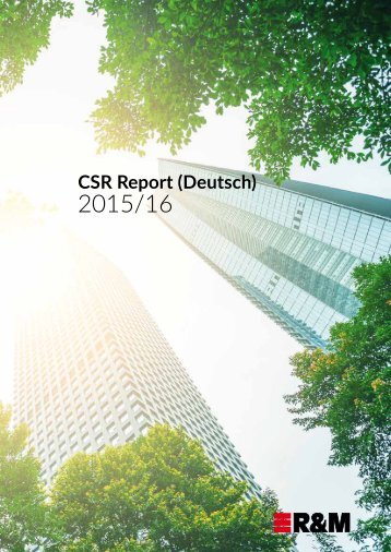 Corporate Social Responsibility Report - 2016 - Deutsch