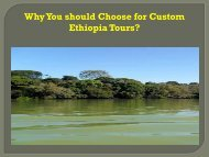 Why You should Choose for Custom EthiopiaTours