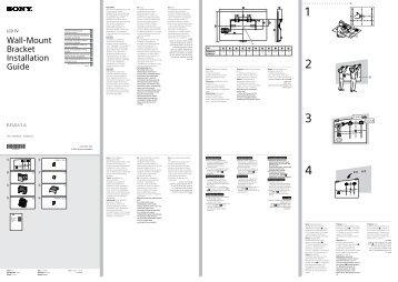 Sony KDL-50W656A - KDL-50W656A Guide d'installation Croate