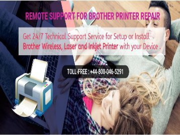 Brother Printer Support Number UK +448000465291