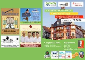 6. BARMER GEK Altstadtlauf 6. Mitterle Firmenlauf 6. Sparkassen ...