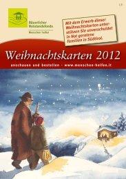 Weihnachtskarten 2012 - Bäuerlicher Notstandsfonds