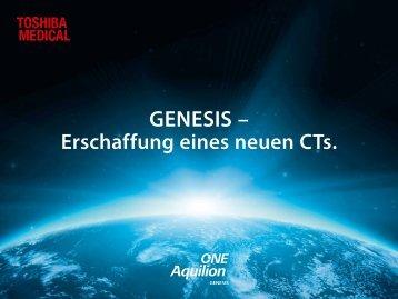 CT Toshiba Aquilion ONE Genesis