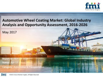 Automotive Wheel Coating Market to Grow at a CAGR of 2.8% by 2026