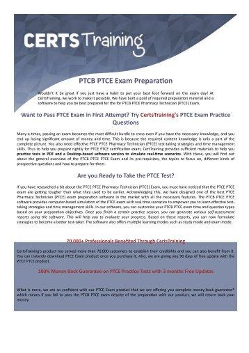 Pharmacy Technician PTCE PTCB Exam Dumps