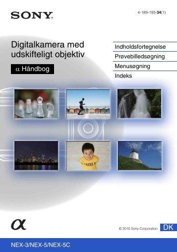 Sony NEX-5 - NEX-5 Guide pratique Danois