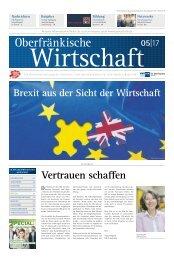 Oberfränkische Wirtschaft Ausgabe 05.2017