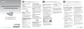 Sony VPCEC4S0E - VPCEC4S0E Guide de dépannage Néerlandais