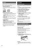 Sony CDX-GT111 - CDX-GT111 Consignes d'utilisation Tchèque - Page 4