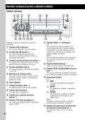 Sony CDX-GT111 - CDX-GT111 Consignes d'utilisation Tchèque - Page 6