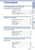 Sony NEX-F3D - NEX-F3D Consignes d'utilisation Hongrois - Page 3