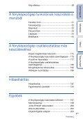 Sony NEX-F3D - NEX-F3D Consignes d'utilisation Hongrois - Page 4