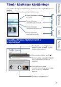 Sony NEX-F3D - NEX-F3D Consignes d'utilisation Finlandais - Page 2