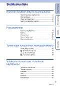 Sony NEX-F3D - NEX-F3D Consignes d'utilisation Finlandais - Page 3