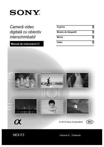 Sony NEX-F3D - NEX-F3D Mode d'emploi Roumain