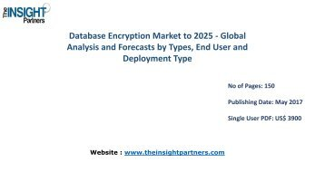 Database Encryption Market: Global Industry Analysis and Opportunity Assessment 2016-2025 |The Insight Partners