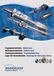Kugelgewindetriebe · Ballscrews Rollengewindetriebe - Rodriguez