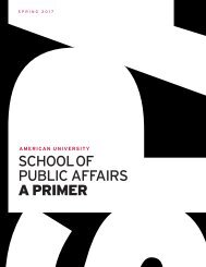 American University School of Public Affairs: A Primer (Spring 2017)