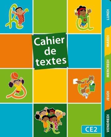 Cahier de texte santé CE2