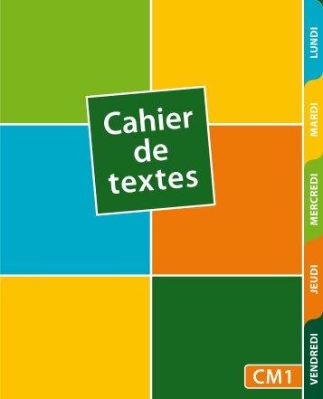 Cahier de texte santé CM1